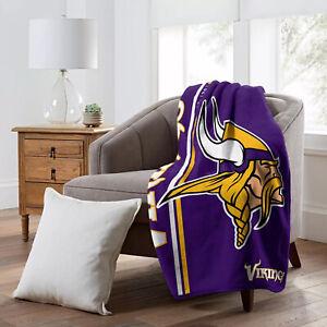 "Minnesota Vikings 50"" x 60"" Plush Throw Blanket (NFL - Restructure)"