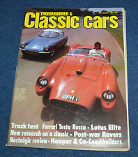 Thoroughbred & Classic Cars October 1982 Wolseley 18/85, Citroen SM, Lotus