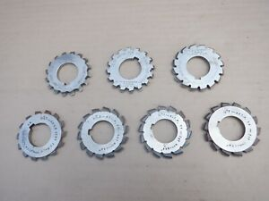 7 off No 40DP GEAR CUTTERS. IN GOOD CONDITION