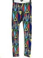 Yetts Los Angeles Abstract Leggings Sz M Medium MultiColor Triangles Yoga Pants
