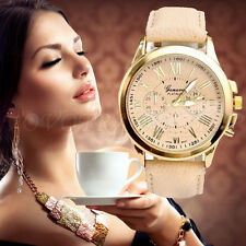 Fashion Geneva Women's Ladies Faux Leather Watch Analog Quartz Wrist Watches New