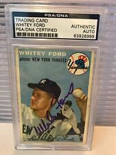 Whitey Ford Signed Autographed 1954 Topps Baseball Card PSA DNA COA