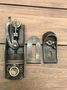 ANTIQUE STANLEY SWEETHEART USA BLOCK PLANE. BRASS KNOBS. VG CONDITION. ALL ORIG