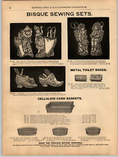 1894 PAPER AD Bisque Cherub Figurines Sewing Sets The Little Folks Cinderella