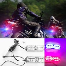 2Pcs 6 LED 12V 12W Motorcycle Strobe Brake Light Taillight Police Warning Light