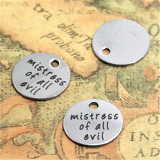 10pcs mistress of all evil charm silver tone message charm pendant 20mm