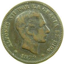 1879-OM  Spain  5 Centimos  Km# 674  A Very Nice Plus Coin!