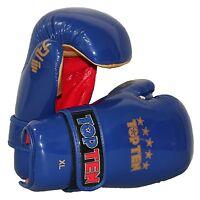 """Top Ten- Boxhandschuhe. Pointfighting """"Open Hands"""" blau. S-XL. Kickboxen."""