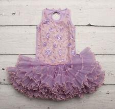 OOH La La Couture Lavender & Pink Rose Tutu Dress sz 4
