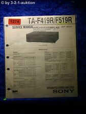 Sony Service Manual TA F419R / F519R Amplifier (#1274)