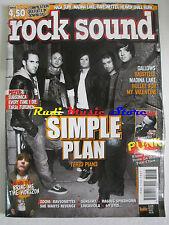 rivista ROCK SOUND 117/2008 + POSTER Subsonica/Tarja Turunen Simple Plan No cd