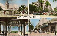 CARTE POSTALE TUNISIE TUNIS MOSQUEE EL KSAR SOLDAT INCONNU KOUBA AVENUE CARTHAGE