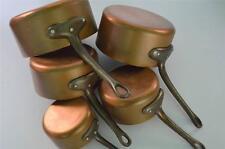 5 French copper pans saucepan cuisine professional casseroles en cuivre