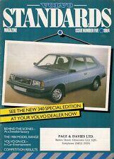 Volvo Standards Magazine No5 1984 UK Market Sales Brochure 340 360 240 260 760