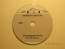 LEMAN STRAUSS,  Over 140  Audio Sermons, MP3 one CD