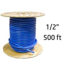 "500 ft 1/2"" ID FlexFab Silicone Heater Hose 5526 Blue 13mm 350F Radiator Coolant"
