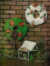 Christmas Wreath & Gingerbread House Patterns #AW1 Macrame Award Winning Designs