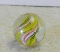 #12643m Vintage German Handmade Peewee .50 Inches Divided Ribbon Swirl Marble