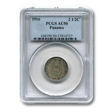 Panama 2.5 Centesimos 1916 PCGS AU50 KM-7.2
