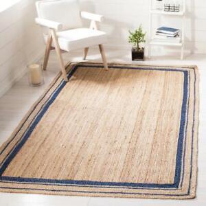 Jute Rug Braided style Reversible Rug Runner Modern Living Rustic  Area Carpet