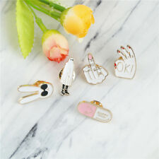 Enamel pins White rabbit figure sign cute brooches pin badge jewelry Girl gift F