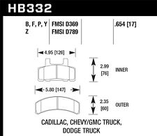 Disc Brake Pad Set-Extended Cab Pickup Front Hawk Perf HB332Y.654