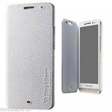 Genuine BlackBerry Z30 White Leather Flip Case