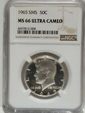 1965 SMS Kennedy Half Dollar, NGC MS66 Ultra Cameo
