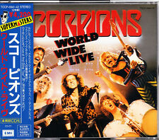 Scorpions World Wide Live 1991 Japan 2 CD 1st Press With Obi TOCP-6941/2 OOP HTF