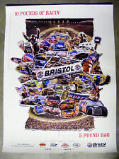 NASCAR BRISTOL AUGUST 2006 10 POUNDS OF RACING IN A 5 POUND BAG 18 X 24