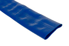 """Blue PVC Layflat Water Delivery Hose 1"""" - 4"""" Discharge Pump Irrigation Lay Flat"""