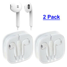 2 Pack Phone Earphones Wired Headphone for iPhone 6 6S 5S 5 Plus Remote & Mic