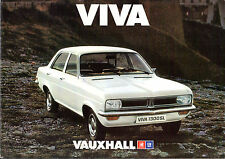 Vauxhall Viva HC 1976 Dutch Market Sales Brochure 1300 1800 Base L SL