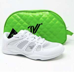Varsity All For One A41 White  Kids Cheerleads Shoes with Free Travel Case SIZ 5