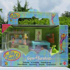 Mini Polly Pocket Trampoline 100% complete NEU Gym.Turnfest Medaille mini Tasche