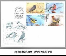MOLDOVA - 2015 BIRDS / BIRD - 4V - FDC