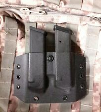 Double Glock Mag/Double Stacked Magazine Carrier,Kydex Black Tactical, LEFT Hand