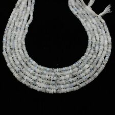 "Natural Rainbow Moonstone Smooth Heishi Tyre Gems Wheel Loose Beads 13"" 7mm-8mm"