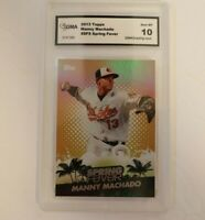 2013 Topps Spring Fever #SF-9 Manny Machado Orioles Baseball Card GMA 10