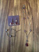 Premier Design Jewelry Set Raspberry