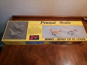 VINTAGE STERLING MODELS JENNY SPIRIT OF ST LOUIS PEANUT SCALE BALSA KIT
