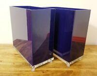 Vintage 10 Piece Blue Lucite Bathroom Set - Mid Century - MOD - Rare!