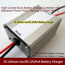 18V Solar MPPT BQ24650 3S Lithium Li-ion 4S LiFePo4 Battery Charger  5A / 10A