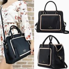 Kate Spade Evangelie Ward Place Black Satchel Bag Crossbody Handbag Leather