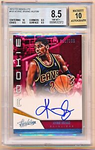 2012-13 Absolute Kyrie Irving Autograph Auto Rookie Rc #151 (191/199) BGS 8.5/10