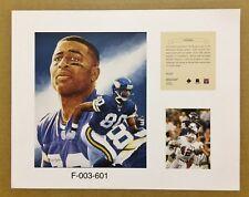 Chris Carter Minnesota Vikings 1996 NFL Football 11x14 Lithograph Print (scare)