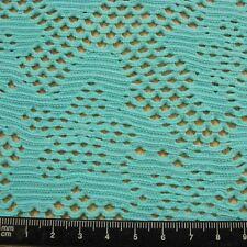 """Sheer Aqua Blue """"Crochet"""" Look Spandex, 175 cm x 4.2 Metres"""