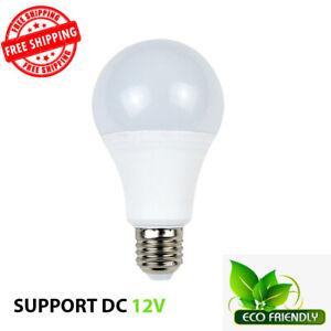 E27 12V DC LED Day Light Bulb Camper 15 Watt 100W Equivalent Outdoor Lighting