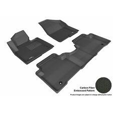 3D Maxpider For 2013-2017 Hyundai Santa Fe Sport Kagu Black R1 R2 Floor Liners