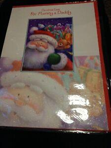 Mummy and Daddy Christmas Card BNIP Large Card